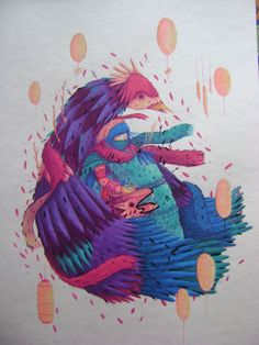 acuarela Rooster, Tumblr, Animals, Water Colors, Animales, Animaux, Animal, Animais, Tumbler