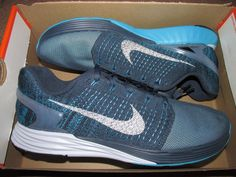 new concept 14e1f ea6ad Details about Nike Lunarglide 7 Flash Mens Running Shoes Squadron Blue 3M  Silver 803566 400