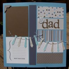 Cute father's scrapbook layout