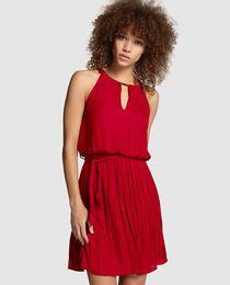 Vestido rojo con lazada