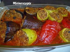 Gefüllte Mischgemüse im Ofen,firinda karisik dolma,Türkische Küche,Türkische Rezepte,meierezepte,meinerezeptwelt