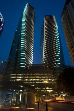 Naza & TH Tower, night photography