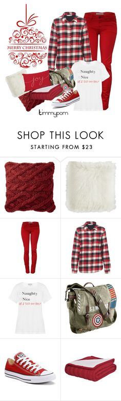"""""""Merry Christmas!"""" by timmypom ❤ liked on Polyvore featuring Nordstrom, Pier 1 Imports, Woolrich, Wildfox, Marvel and Converse"""