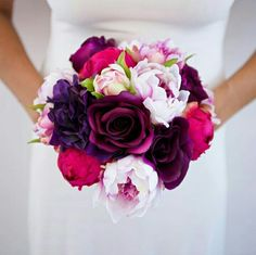 Hello beautiful made of silk peonies and roses in shades of fuchsia, pink, and purple! Hello beautiful made of silk peonies and roses in shades of fuchsia, pink, and purple! Purple Flower Bouquet, Prom Bouquet, Summer Wedding Bouquets, Prom Flowers, Pink And Purple Flowers, Purple Wedding Flowers, Floral Bouquets, Silk Flowers, Floral Wedding