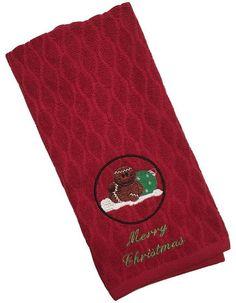 Gingerbread Decor Dish Towel Hand Towel Christmas Towels