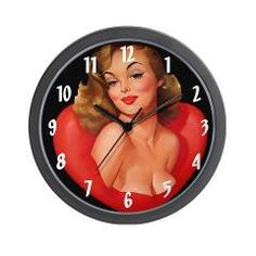 Man Cave, Sexy Woman Wall Clock> Funny T-Shirts> New Orleans Fig Street Studio