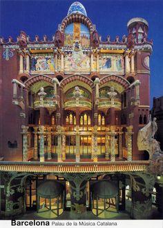 "Mosaics of the Palau de la Música Catalana ""Palace of Catalan Music"" – Barcelona, Spain Barcelona City, Barcelona Catalonia, Barcelona Travel, Art Nouveau Architecture, Amazing Architecture, Art And Architecture, Antoni Gaudi, Le Palais, Spain And Portugal"