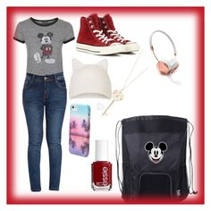 """""""Disneyland outfit and essentials"""" by brynn-cece-cunningham on Polyvore featuring Topshop, Converse, Essie, Aéropostale and Frends"""