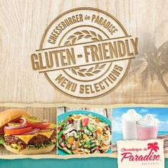 Did you know we're #GlutenFriendly on the Island?! http://www.cheeseburgerinparadise.com/menu/glutenmenu.php
