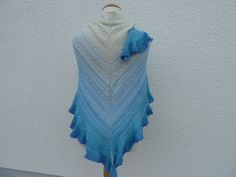 Schal Boucle Modern Reine Handarbeit Kleidung & Accessoires