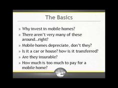 Are you looking to make extra cash? Wondering if mobile home investing is right for you? Wanting to get started right away? Watch as Dawn Erling shows you ...