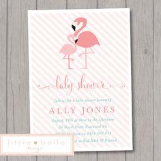 flamingo baby shower cake topper ~ flamingo cake topper~ flamingo, Baby shower invitations