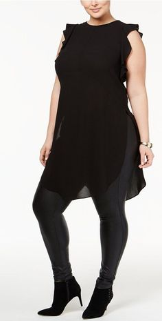 Plus Size Ruffled Tunic