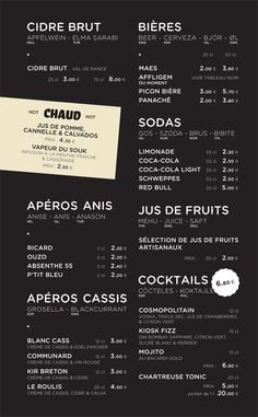 Menu and Identity Design for KIOSK Strasbourg, France