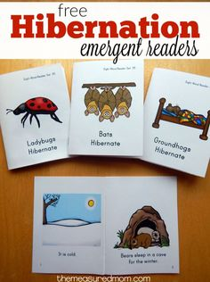 Print these free emergent readers to go with your hibernation activities!