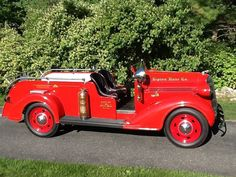 Originally built for a Long Island fire department to use in fire tournaments, this 1935 Dodge Fire Wagon for sale on Hemmings. com saw some legitimate rescue u Police Truck, Ford Police, Fire Dept, Fire Department, Ambulance, Cool Trucks, Fire Trucks, Wagons For Sale, Cool Fire