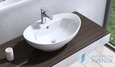 Contemporary Counter Top Wash Basin Oval Domenica with Tap Hole from Bathroom Avenue.