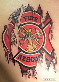 Pin Firefighter Tattoos And Fire Department Tattoo Policies The On
