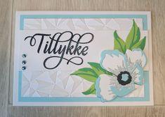 Kort med stempelsættet Tillykke med blomster af NHH Design.