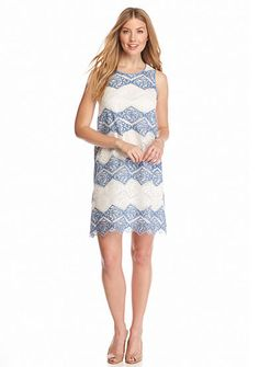 Sophie Max Sleeveless Lace Shift Dress
