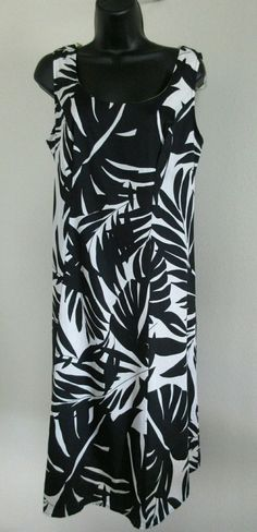 Signature By Robbie Bee Sundress Size 8 Black & White Cotton Print-NWOT #RobbieBee #Sundress #Festive