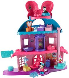 Fisher-Price Disney Junior Minnie Mouse Minnie's Happy Helpers Home Sweet Headquarters Playset Minnie Mouse Toys, Disney Mickey Mouse Clubhouse, Mickey Y Minnie, Barbie Doll House, Barbie Dolls, Toddler Toys, Kids Toys, Muñeca Baby Alive, Realistic Baby Dolls