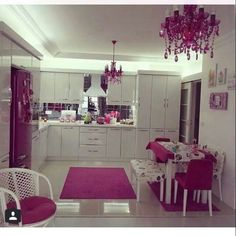 Image about pink in Outside World - Inside Decor. Kitchen Interior, Pink Home Decor, Home Decor Kitchen, Beautiful Kitchens, Home N Decor, Kitchen Decor, Kitchen Remodel Small, Kitchen Room Design, Inside Decor