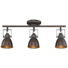 Pro Track® Abby Bronze Track Fixture Anybody can produce a residence sweet residence, even when the budget is tight. Farmhouse Track Lighting, Industrial Track Lighting, Track Lighting Kits, Kitchen Lighting Fixtures, Antique Lighting, Light Fixtures, Farmhouse Decor, Kitchen Track Lighting, Closet Lighting