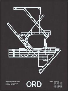 ORD: Chicago O'Hare International Screenprint – NOMO Design