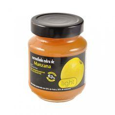Mermelada extra de Manznana light de Int Salim. Mermelada preparada con 63% de fruta y 30% de azúcares. Sin colorantes y sin conservantes.