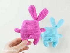 Free crochet Easter bunny pattern by Amigurumi Today