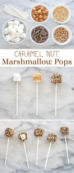 Caramel, chcolate, rice krispies and nuts surround a marshmallow to create an incredible treat!