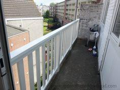 Balkonhek van hout plaatsen, J.P. de Ruijter Onderhoud