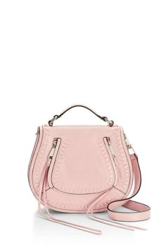 """This Saddle Bag by Rebecca Minkoff features a detachable strap whipstitching throughout and tassels to add some edge. Genuine Leather Silver Hardware.    Adjustable strap 23"""" strap 2.5"""" handle drop 8.75""""W x 7.75""""H x 2.75""""D Small Vanity Saddle-Bag by Rebecca Minkoff. Bags - Cross Body Canada"""