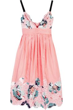 Catherine Malandrino | Flower appliqué cotton dress  | NET-A-PORTER.COM