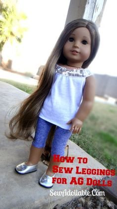 18inchdollclothesz.com:  How to Sew Leggings for AG Dolls