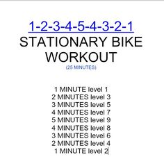 pyramid style workout for a stationary bike
