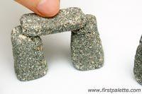 Miniature Stonehenge craft