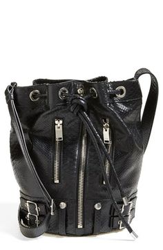 Saint Laurent 'Medium Rider' Leather Bucket Bag available at #Nordstrom