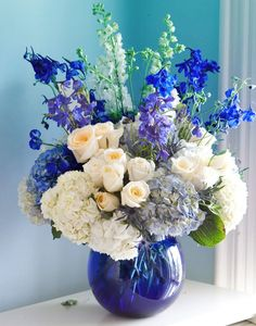 3611 best floral ideas images on pinterest in 2018 shades of blue and white blue flower arrangementsfloral mightylinksfo