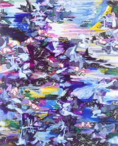 Wind Rocks the Willows, 2004oil & acrylic on canvas, 244 x 200cm