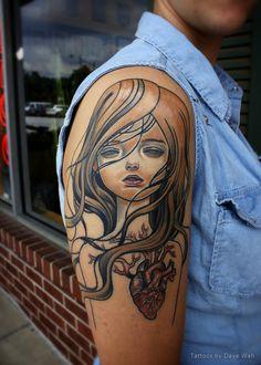 Art by Audrey Kawasaki Audrey Kawasaki Tattoo, Wonderland Tattoo, Tattoo Inspiration, Tribal Tattoos, Tattoo Artists, Body Art, Piercings, Beautiful, Tattoo Ideas