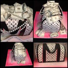 - Cash money LV purse cake