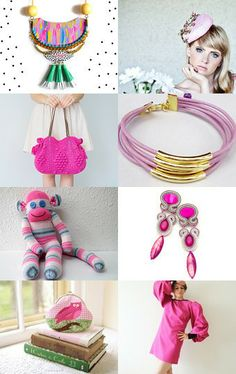 Pink with a little bit of green ! by bridesrules on Etsy--Pinned with TreasuryPin.com