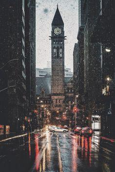Wallpaper | City | Rain