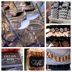 Vintage Dude Party Ideas Supplies and Decorations