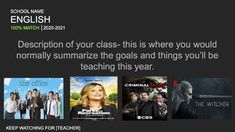 Overwhelmed with back to school planning? Wondering how you can make this year start off on the right foot no matter what model you return to? This Netflix inspired ice breaker is the perfect solution!This is a multiple slide Google Slide with:-a slide where you introduce yourself and the class-4 sl... In High School, Back To School, School Plan, Do Video, Ice Breakers, Google Classroom, How To Introduce Yourself, Netflix, Teacher