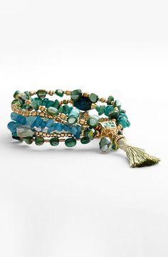 Sara Bella Bead Stretch Bracelet available at #Nordstrom