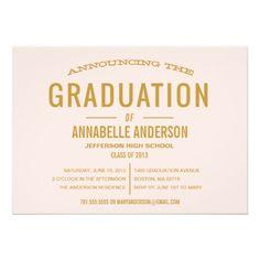 Vintage Type Graduation Invitation