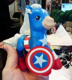 captain america my little pony custom